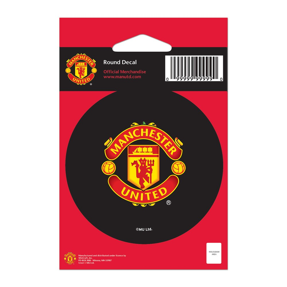 Manchester United Official PREMIER LEAGUE 3 inch  Round Vinyl Car Decal by Wincraft