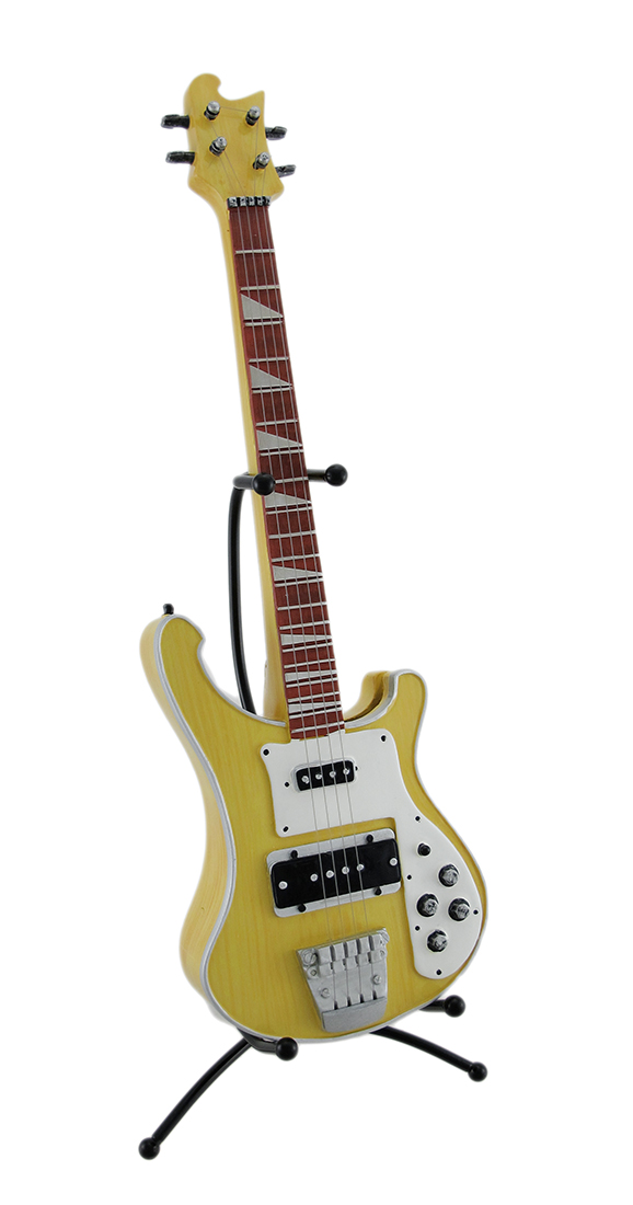 Electric Bass Guitar Coin Bank Piggy Bank w Stand by King Max