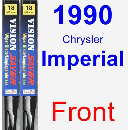 1990 Chrysler Imperial Wiper Blade Set/Kit (Front) (2 Blades) - Vision Saver Chrysler Imperial Custom Series