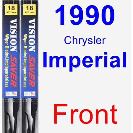 1990 Chrysler Imperial Wiper Blade Set/Kit (Front) (2 Blades) - Vision Saver