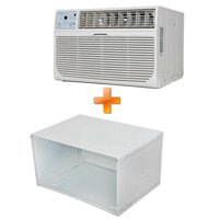 """Combo Offer Keystone KSTAT08-1C 8000 BTU 115V Through-the-Wall Air Conditioner with """"Follow Me"""" LCD Remote Control and 26"""" Wall Sleeve for Through-the-Wall Air Conditioners."""