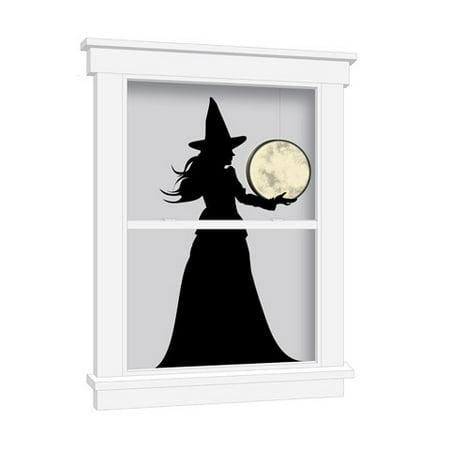 Martha Stewart Crafts Luminary Witch & Moon Window Cling: 36 In - Martha Stewart Halloween Window Clings