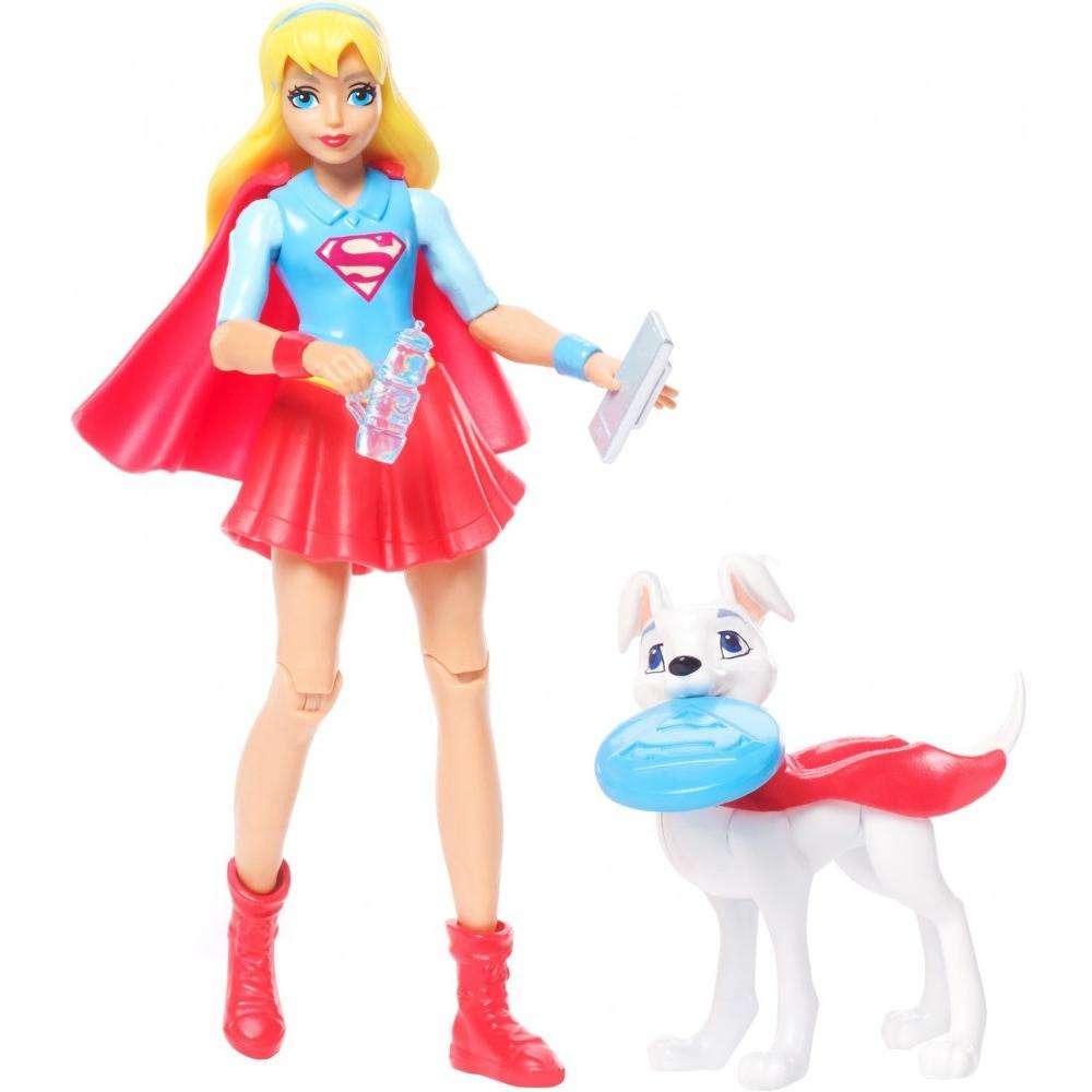 DC Super Hero Girls Super Girl Figure with Pet