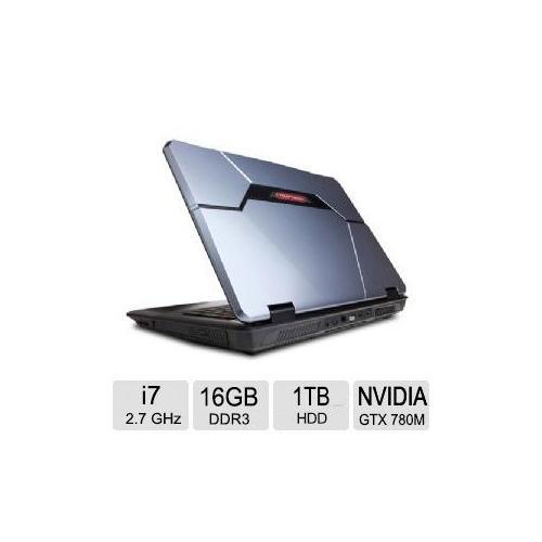 CyberpowerPC FANGBook EVO HX7-T800 Gaming Laptop - 4th Gen. Intel Core i7 4800MQ 2.7GHz, 16GB DDR3, 1TB HDD, 250GB SSD,