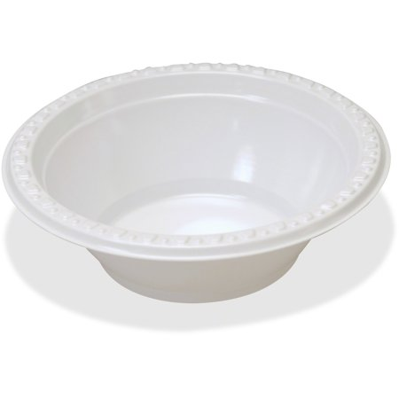 Tablemate, TBL12244WH, Party Expressions Plastic Bowls, 125 / Pack, - Plastic Party Bowls