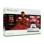 Microsoft Xbox One S 1TB NBA 2k20 Bundle, White, 234-00998