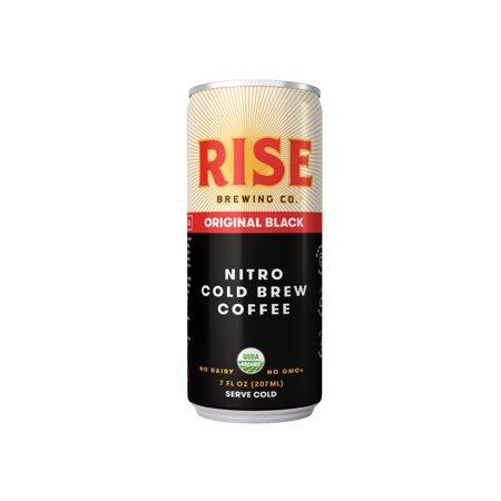 (4 Cans) RISE Brewing Co. Original Black Nitro Cold Brew Coffee, 7 Fl
