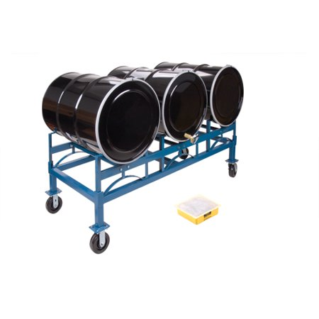 Kleton Drum Stacking Rack, Holds Three 55 Gal. Drums, 2400 lbs Capacity - image 1 of 2