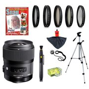 Sigma 50mm F1.4 DG HSM ART Lens with UV, CPL, FLD, ND4, +10 Macro Filters and Bundle for Canon EOS 70D, 60D, 60Da, 50D, 7D, 6D, 5D, 5Ds, Rebel T6s, T6i, T5i, T5, T4i, T3i, T3, T2i and SL1 SLR Cameras