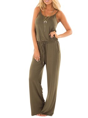 4c2138716a4 Product Image Women Fashion Loose Solid Color Strap Jumpsuits