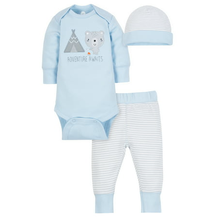 Wonder Nation Take-Me-Home Set, 3-piece (Baby Boys)