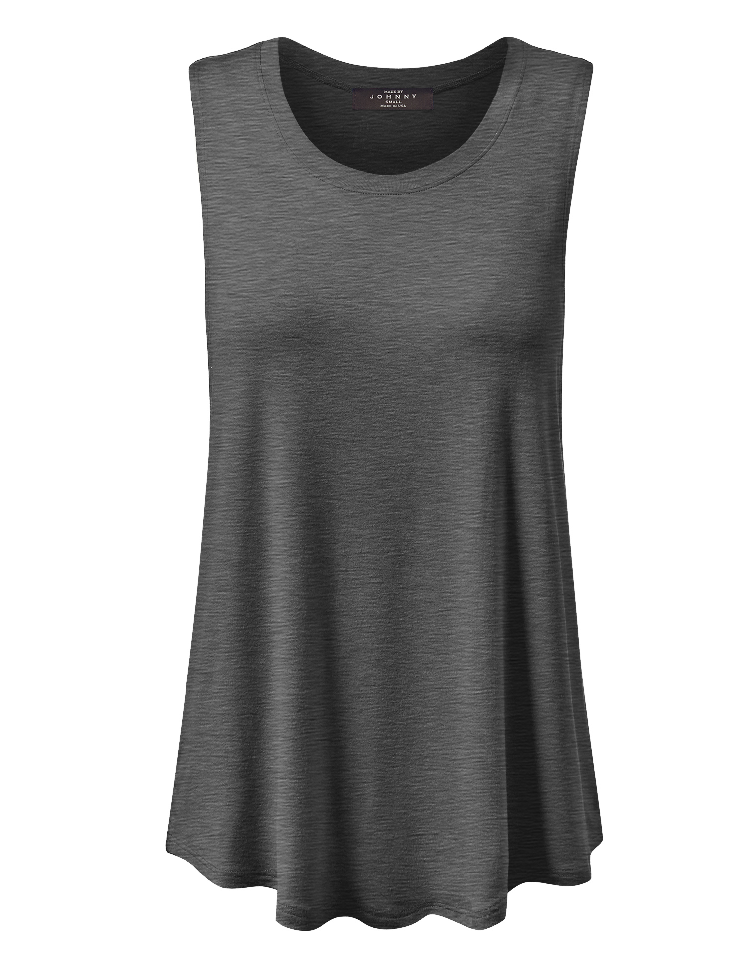 Made by Johnny MBJ WT902 Womens Basic Loose Fit Tank Top XXXL Heather_Charcoal