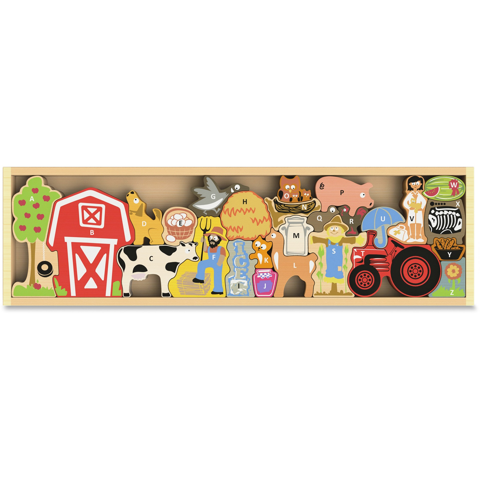 BeginAgain Toys The Farm A to Z Puzzle by BeginAgain