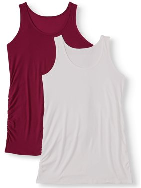 Maternity Time and Tru Tank Top, 2 pack (Available in Multiple Colors)