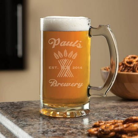 Personalized My Brewery 16 oz Beer Mug