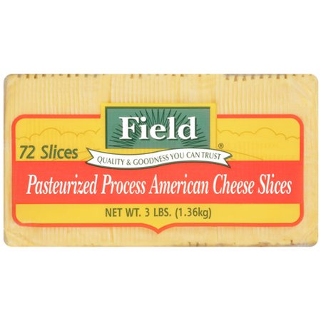 Field Pasteurized Process American Cheese Slices, 72ct ...