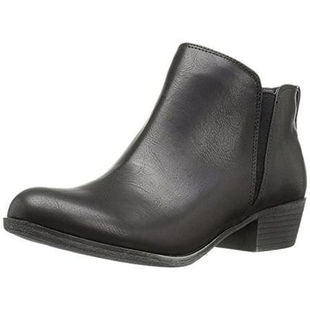 Zigi Soho Womens Ayesha Faux Leather Stacked Heel Booties