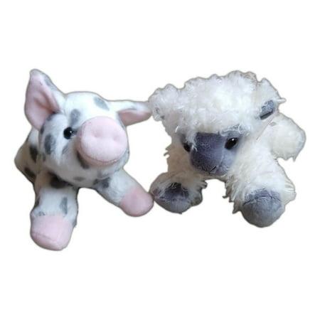 SPOTTED PIGLET & BLACK FACE SHEEP Mini Flopsie 8