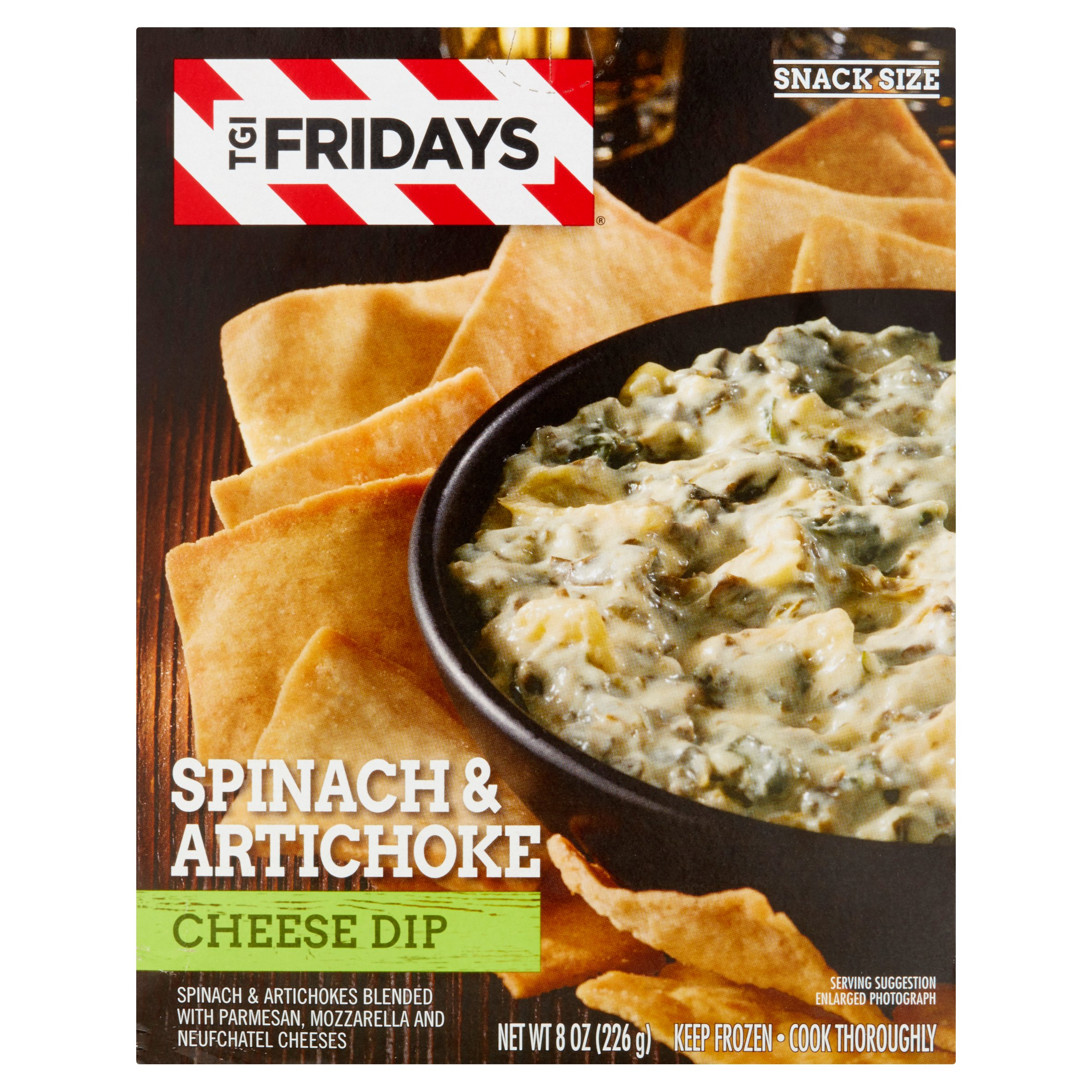 TGI Fridays Spinach & Artichoke Cheese Dip, 8 oz
