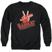 Voice Red And White Mens Crewneck Sweatshirt