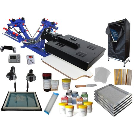 Techtongda Silk Screen Printing Kit 3 Color Printing Press Screen Printer Diy Machine Tools 006952