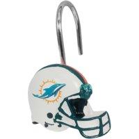NFL Miami Dolphins Shower Hooks, 12 Piece