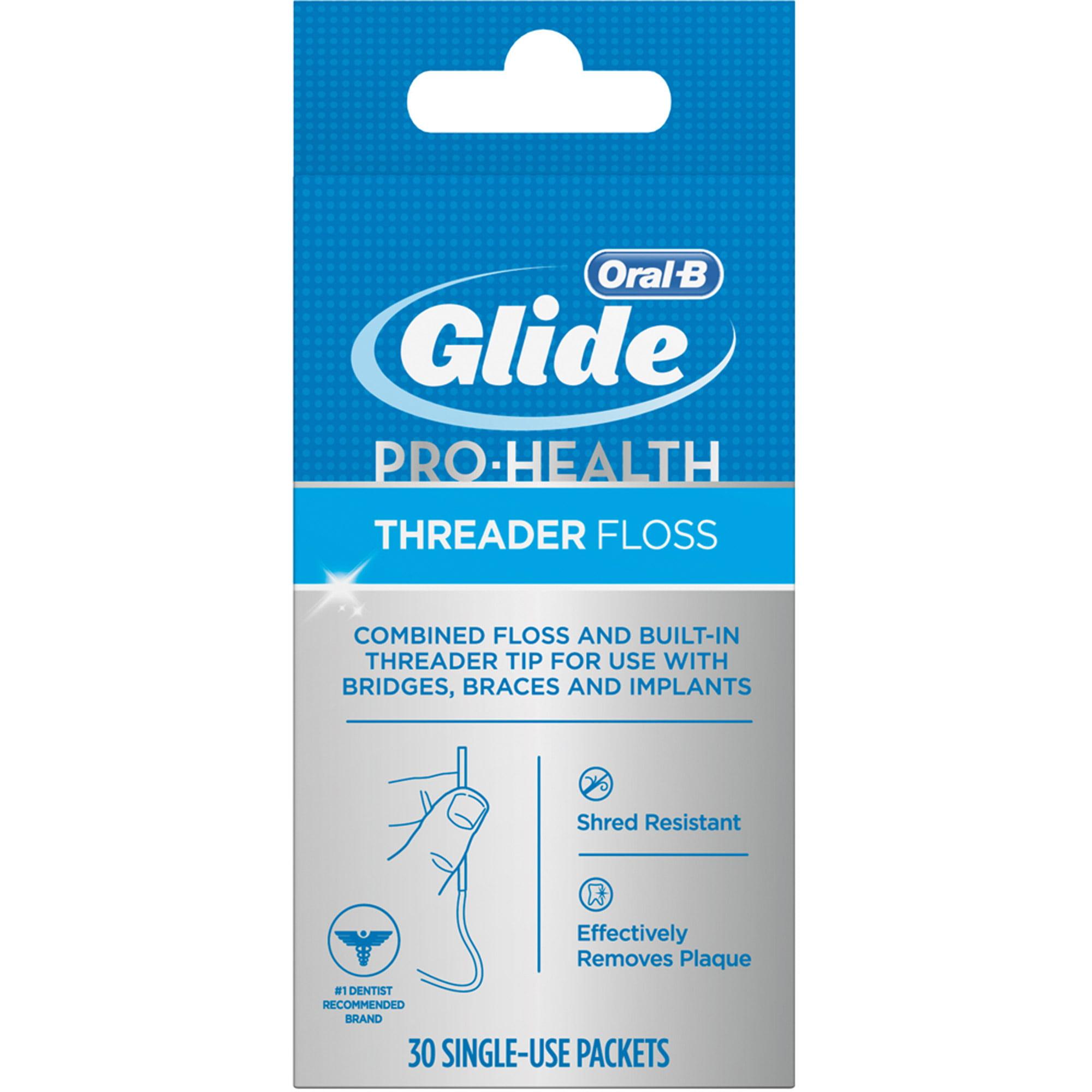 Oral-B Glide Pro-Health Threader Floss, 30 count