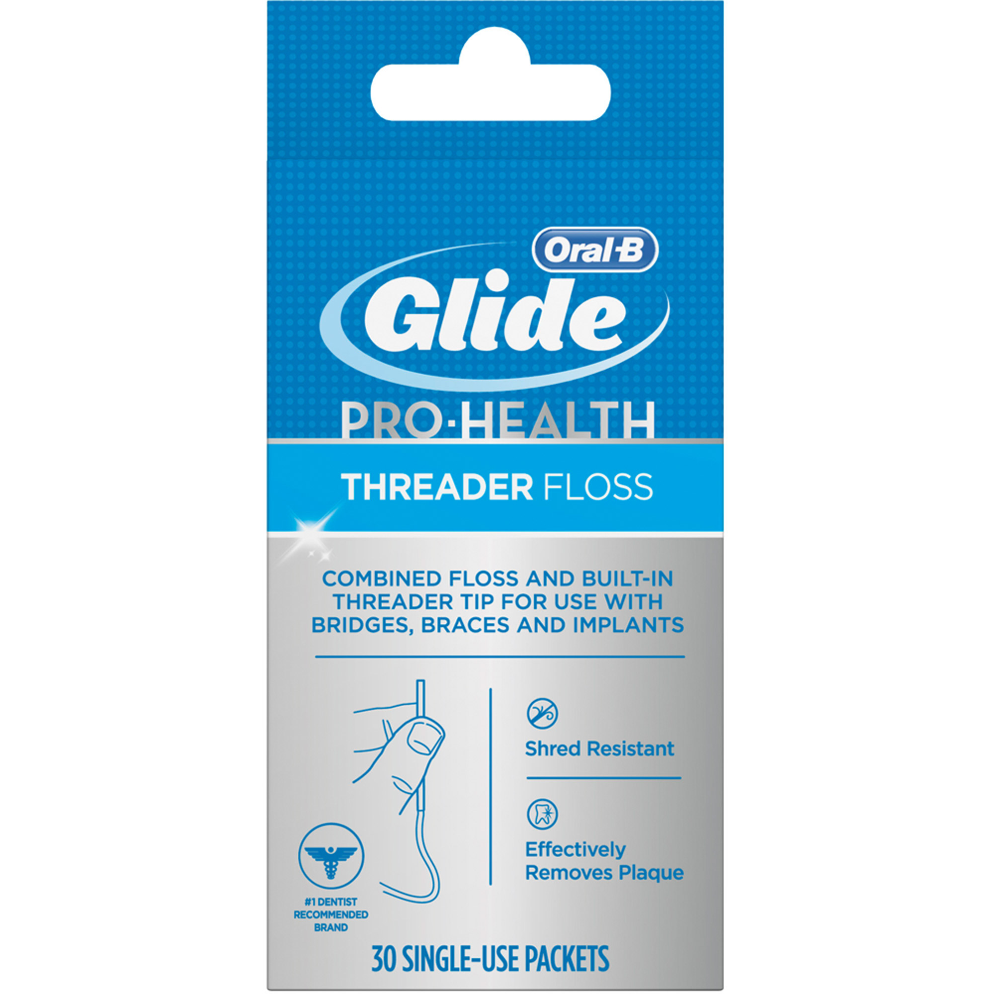 Oral-B Glide Pro-Health Threader Floss, 30 count