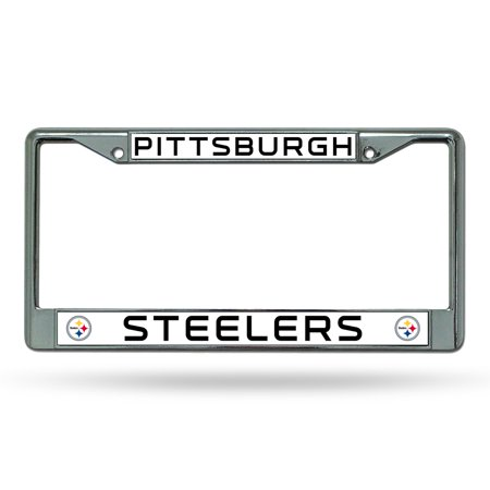 Pittsburgh Steelers NFL Chrome License Plate Frame - Walmart.com