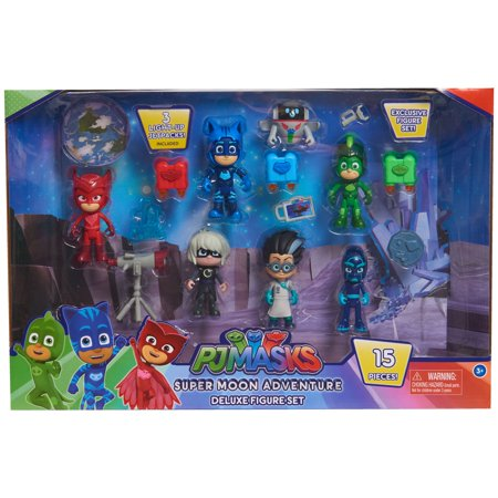 PJ Masks Super Moon Adventure Deluxe Figure Set, 15 pieces included