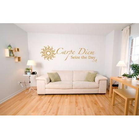 Carpe Diem Wall Decal Wall Sticker Vinyl Wall Art Home Decor Wall Mura