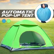 Portable 2-3 Person Automatic Set Up Tent Instant Tent Anti-UV Sun Shade Canopy For Outdoor Camping Beach 78.74 x 59.06 x 47.24'' (Blue, Green)