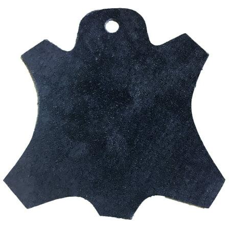 Premium Garment Grade Pig Suede Leather Hide 0.5mm Avg 7-9 sqft - Navy