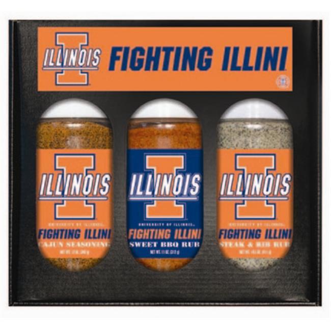 Illinois FIGHTING ILLINI Boxed Rubs (3xpint)