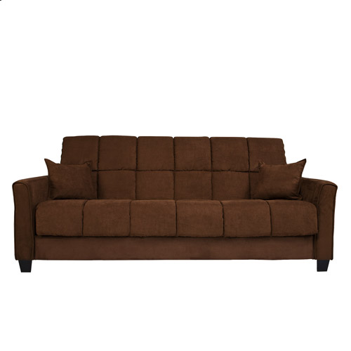 Baja ConvertACouch Futon Sofa Bed Dark Brown Walmartcom