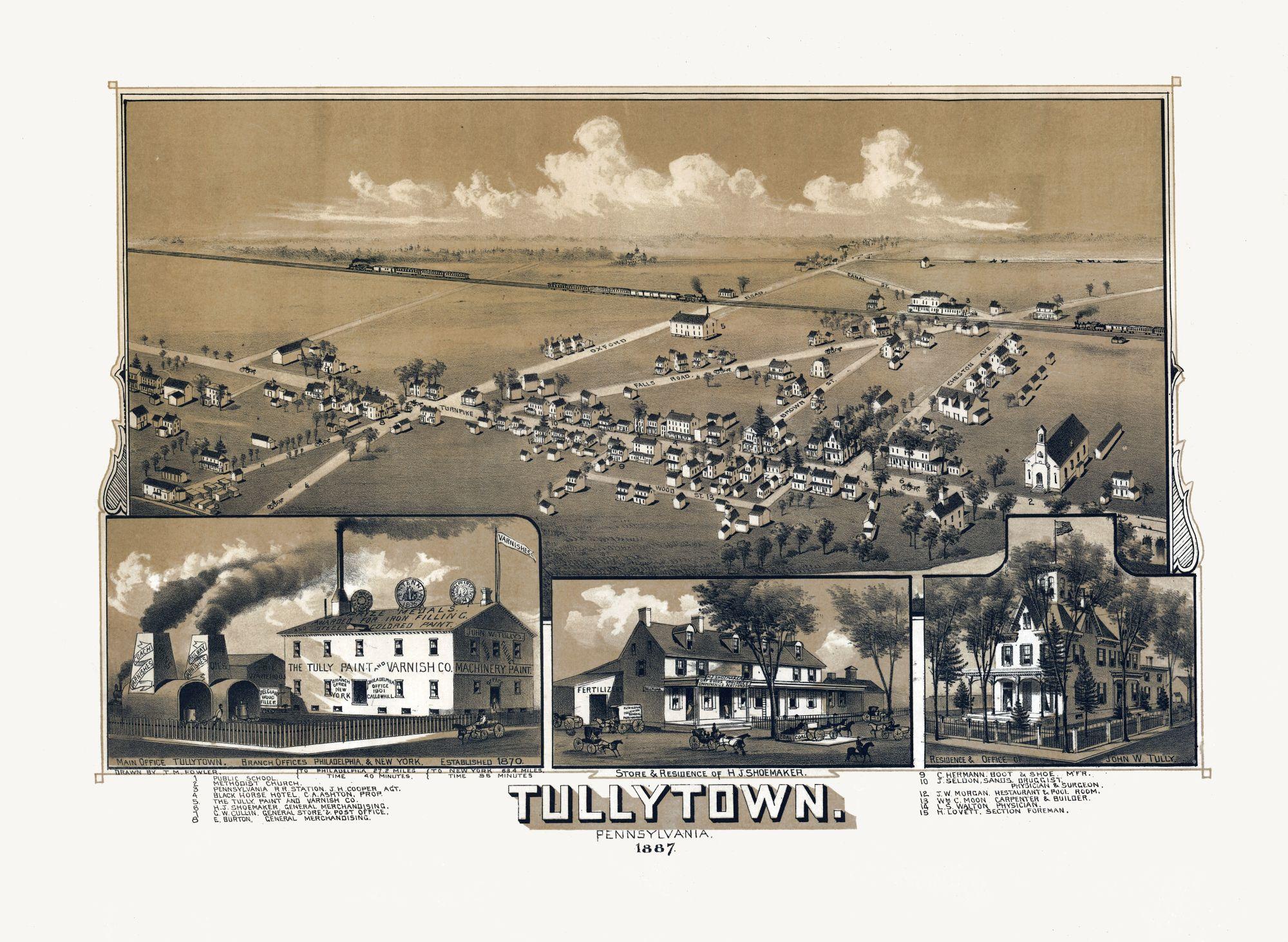 Tullytown Pennsylvania Fowler 1887 31 46 X 23 Walmart Com Walmart Com