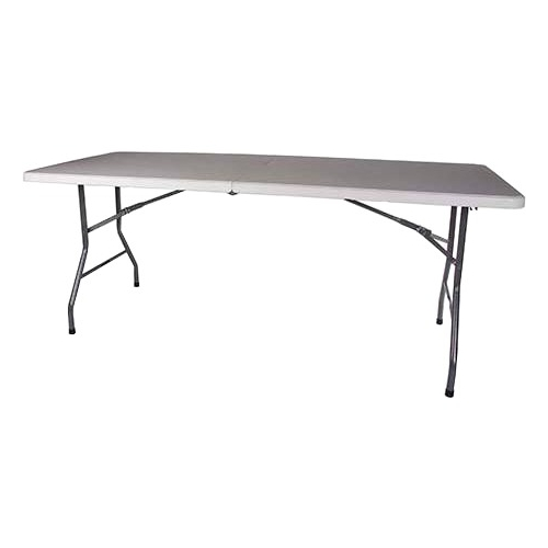 """Click here to buy Stansport Folding Camp Table Rectangle Top Folding Base 4 Legs 72"""" Table Top Length x 29"""" Table Top Width... by Stansport."""