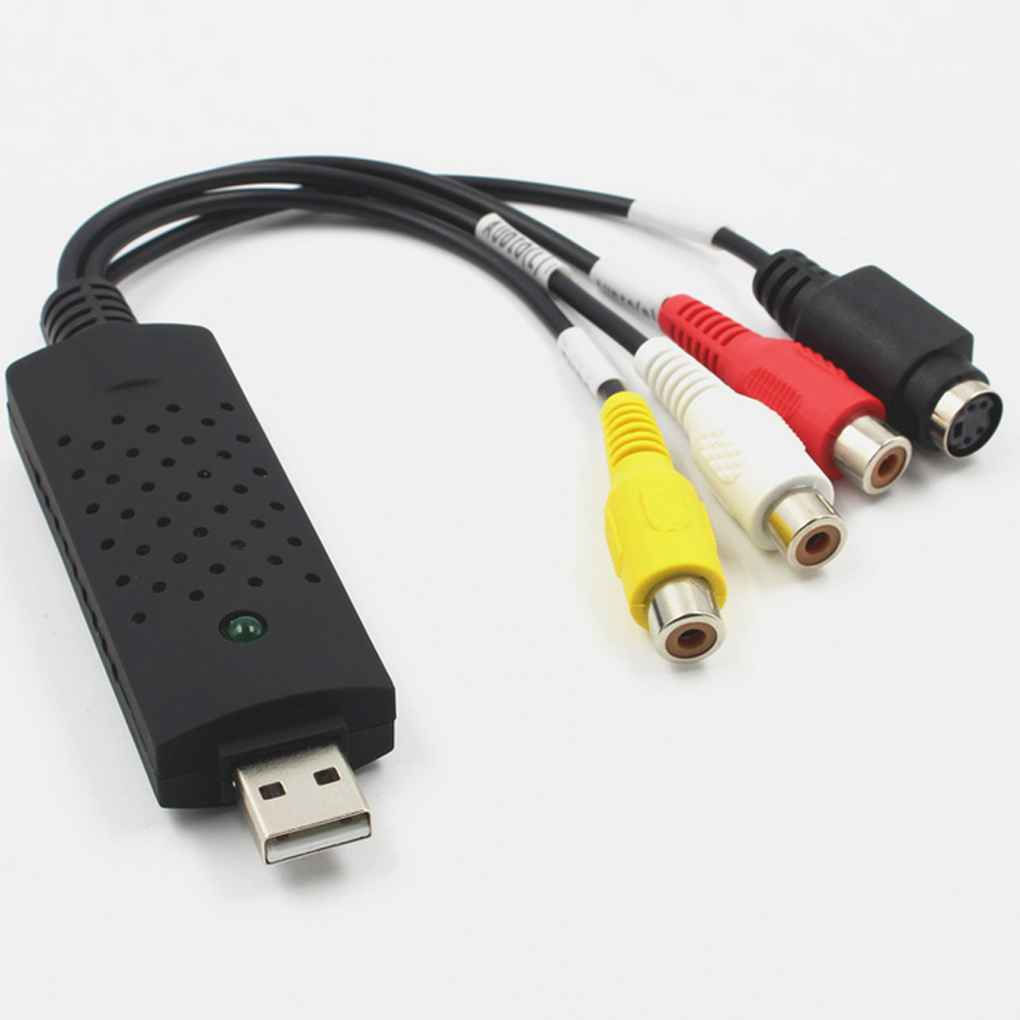 USB 2.0 Video Audio Capture Card Device Adapter VHS To DVD Converter