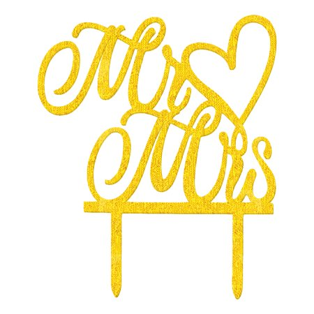 Wedding Party Acrylic DIY Handcraft Gift Cupcake Decor Cake Topper Gold Tone](Diy Halloween Cakes Pinterest)
