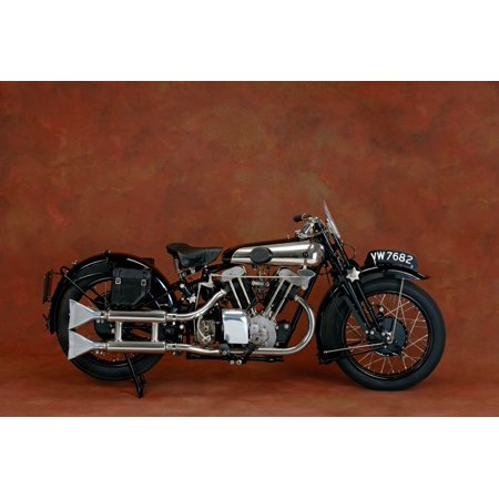 1930 Brough Superior 680cc V-Twin motorcycle Country of origin United Kingdom Canvas Art - Panoramic Images (18 x 24)
