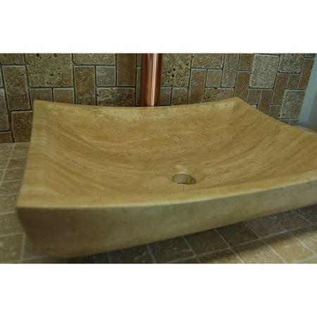 Eden Bath Zen Deep Stone Rectangular Vessel Bathroom - Zen Bath Sink