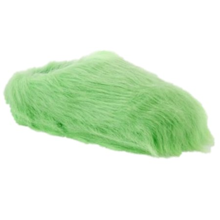 So Womens Plush Green Faux Fur Clog Slippers Fuzzy Scuffs House Shoes - Glass Slippers Are So Back