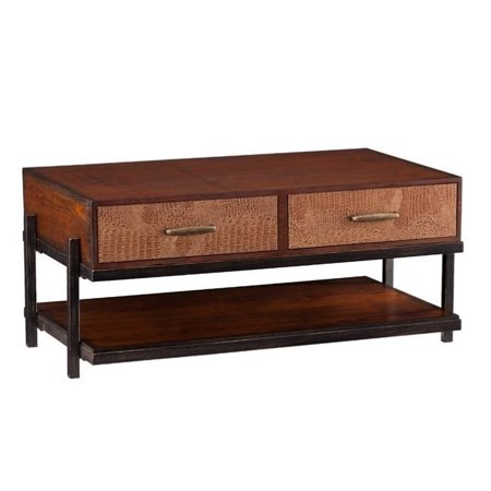 Southern Enterprises Palmetto Coffee Table With Drawers In Espresso