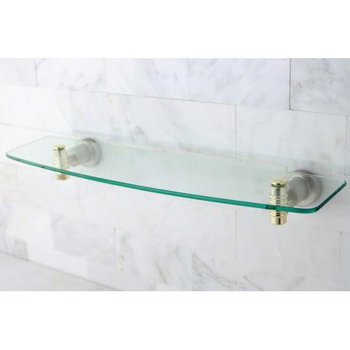 Kingston Brass  BAH8619  Shelf  Milano  Accessory  Glass  ;Satin Nickel / Polished Brass