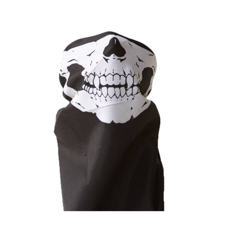 Bandana Skull/Skeleton Mask - Black/White](Black Morph Mask)