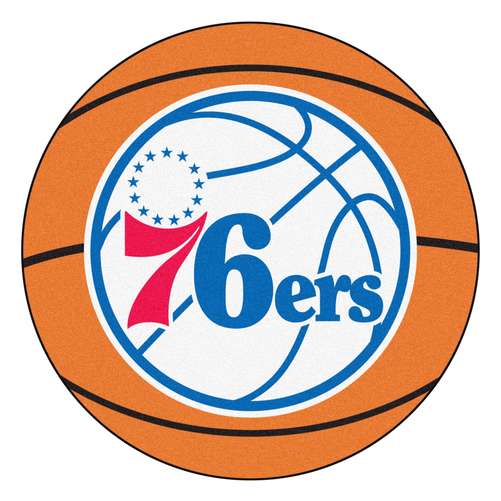 NBA Philadelphia 76ers Basketball Shaped Mat Area Rug