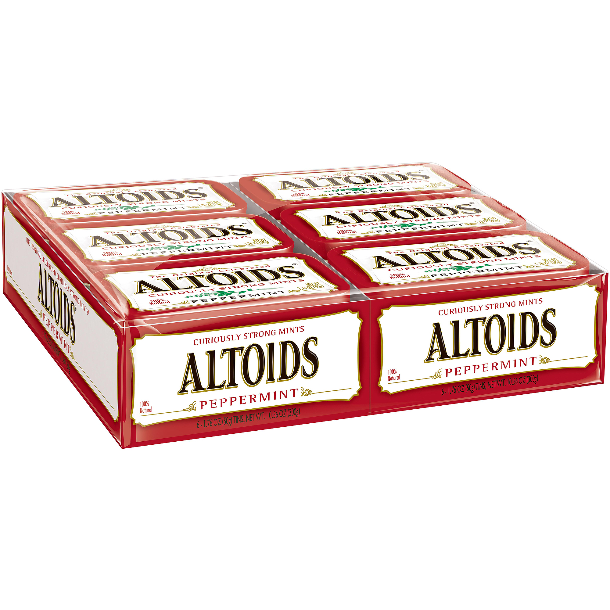 Altoids Peppermint Mint, 1.76 oz tin, 12 count