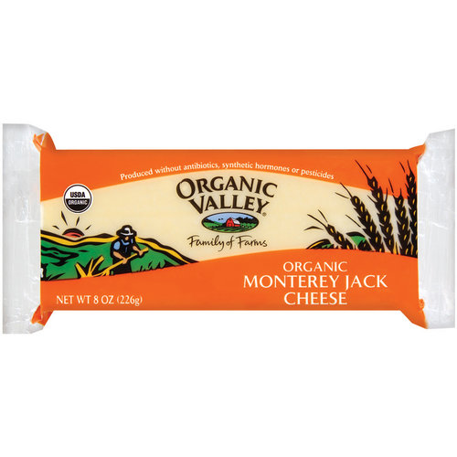 Organic Valley Monterey Jack Cheese, 8 oz
