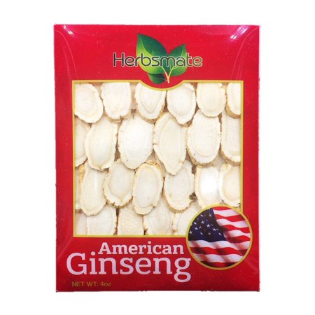 Hand-selected A Grade American Ginseng Slice Large Size (4 Oz. Box)
