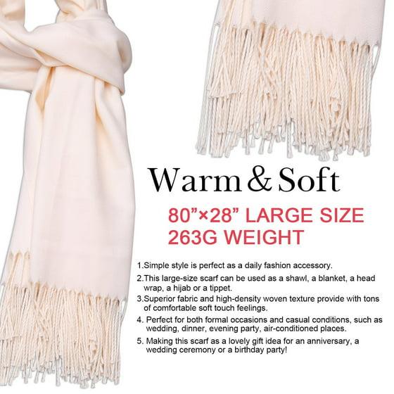 f0b419a51b4 SojoS Womens Large Soft Cashmere Feel Pashmina Shawls Wraps Winter Scarf  SC304